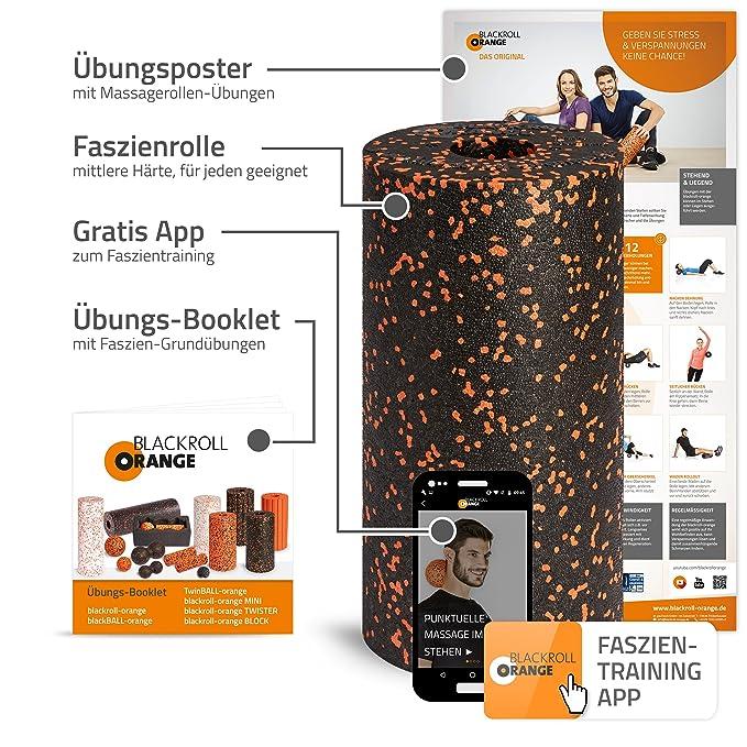 Blackroll Orange Faszien-Rolle, EPP Schaumstoffrolle inkl. Booklet ...