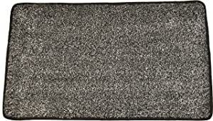 """Door Mat Premium Floor Mat Eco Friendly Rubber Backing Non Slip Mat Kitchen Mat Mud Mat Cotton + Microfiber aprox 18"""" x 30"""" Machine Washable by ECOMAT - Veteran Owned (Black and White)"""
