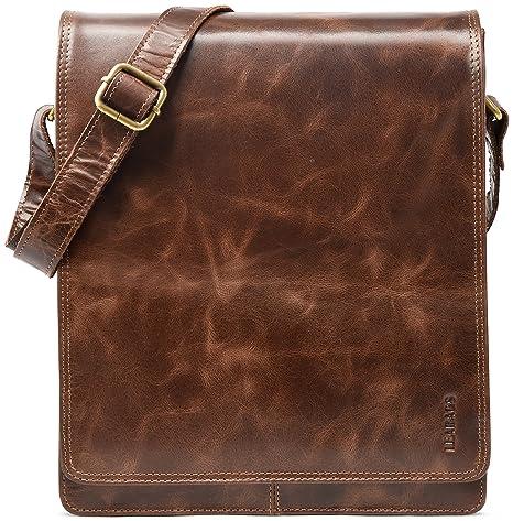 borsa vintage di bufalo vera pelle in LEABAGS a London tracolla 4IRw5Hq