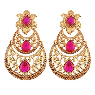 Buy I Jewels Gold Plated Designer Chandbali Earring For Women