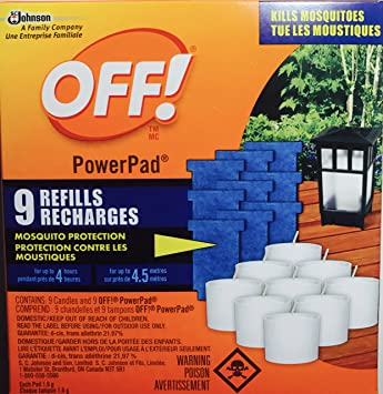 Off! Power Pad Mosquito Lamp 9 Refills