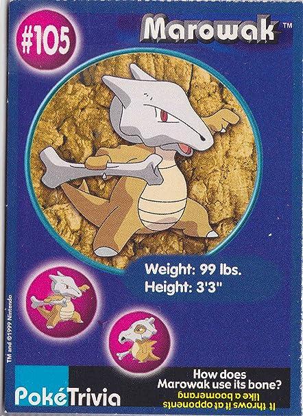 Amazon.com: Tarjeta de Pokemon japonés – marowak 105 ...
