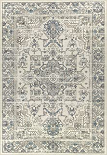 product image for Maples Rugs Distressed Tapestry Vintage Large Area Rugs Carpet for Living Room & Bedroom [Made in USA], 7 x 10, Neutral