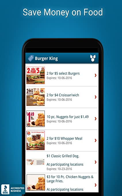 Amazon.com: Food Coupons - Burger King etc: Appstore para ...