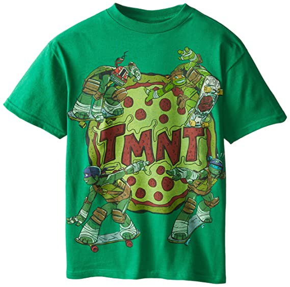 64623653a8fe5 Amazon.com  Teenage Mutant Ninja Turtles Big Boys  Pizza T-Shirt ...