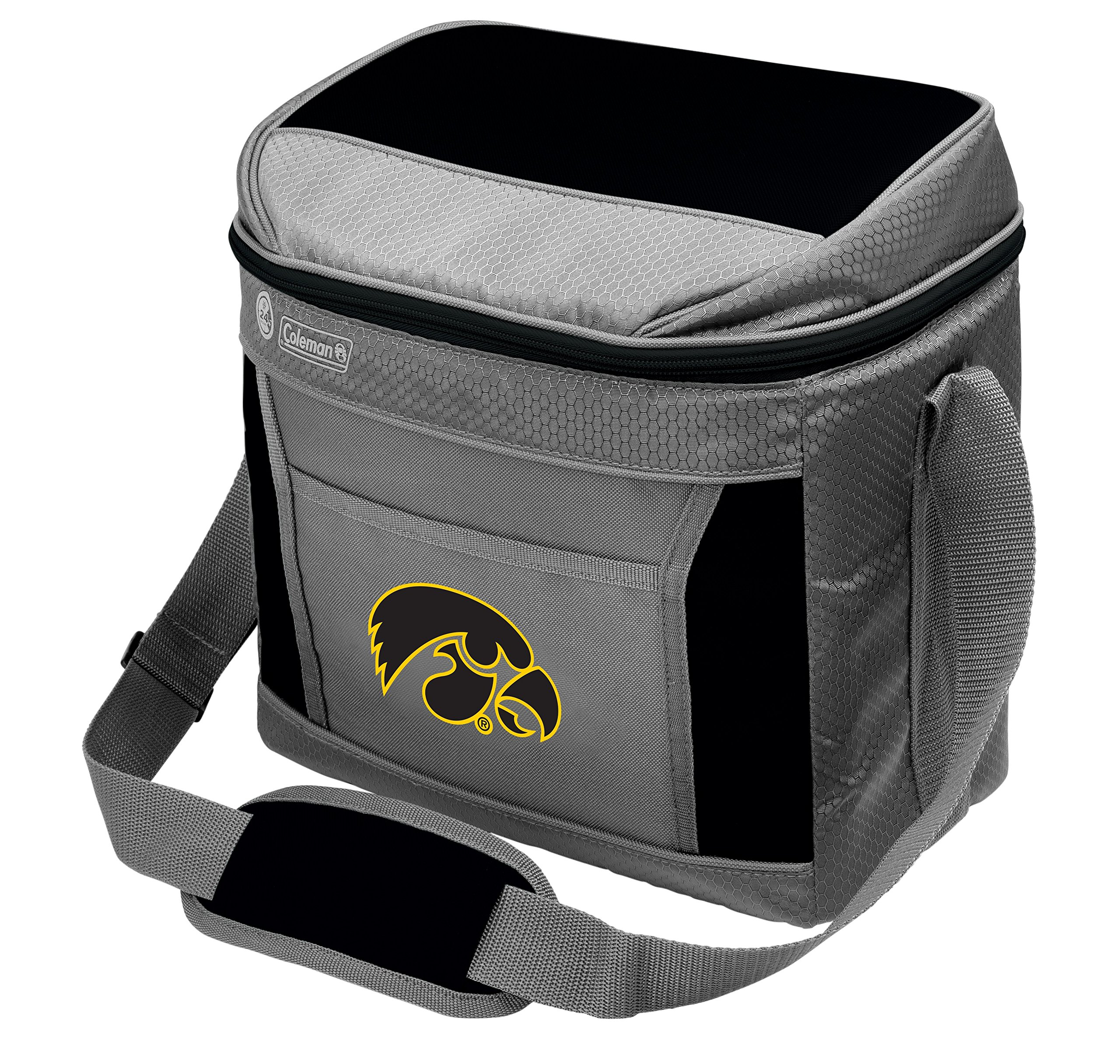 Coleman NCAA Soft-Sided Insulated Cooler Bag, 16-Can Capacity, University of Iowa Hawkeyes