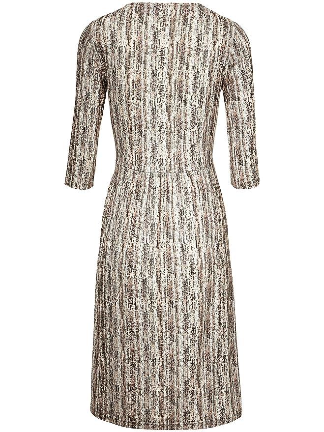 Damen Jersey Kleid mit 34 Arm von Uta Raasch, mehrfarbig
