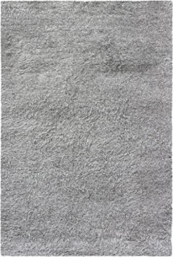 Blue Nile Mills Elegant Shag 8×10 Area Rug-Silver