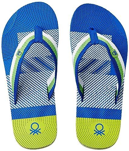 5ed962117b0f9d United Colors of Benetton Men s Royal Flip-Flops and House Slippers - 10 UK