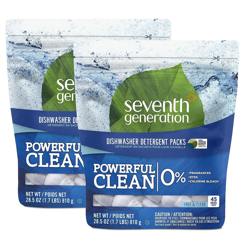Seventh Generation Ultra Power Plus Dishwasher Detergent Packs, Fresh Citrus Scent, 86 count