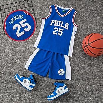 AnAn Lucky Camiseta Baloncesto niño/Basketball Jersey Set para Unisex - 23 Bulls Jordan / # 23 Lakers James / # 30 Warriors Curry/#25 Philadelphia 76ers/: Amazon.es: Ropa y accesorios