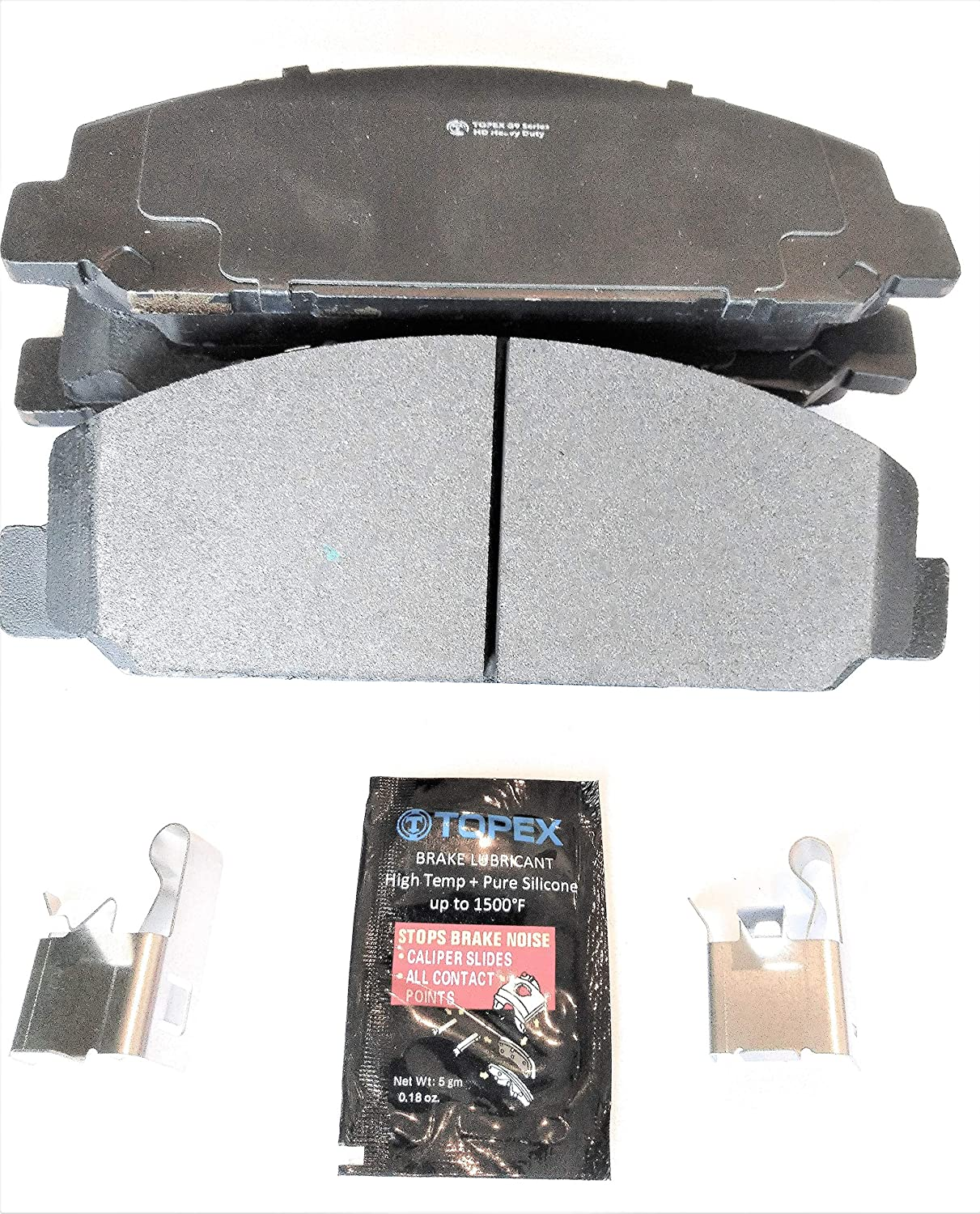 Metro Friction G9-0786 Topex Extreme G9 Series Heavy Duty Performance Formula Disc Brake Pad Set With Hardware