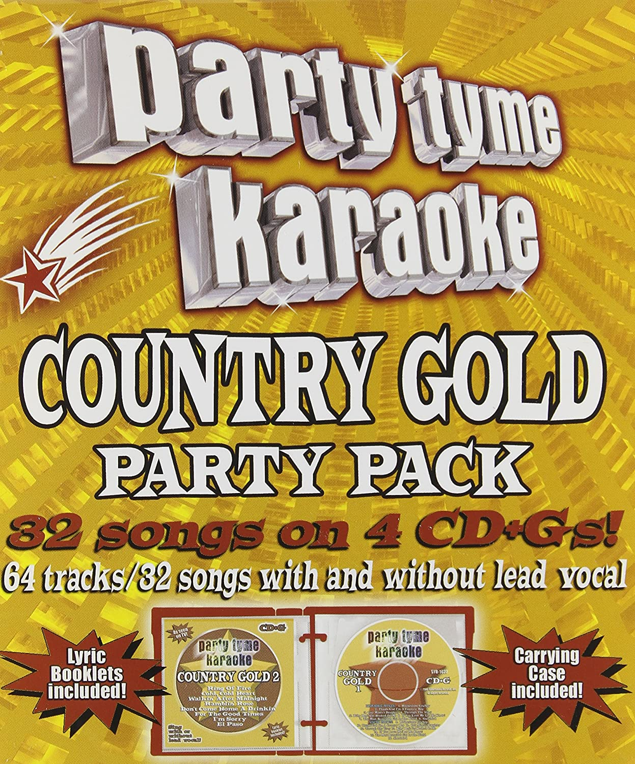 Party Tyme Karaoke: Country Gold Party Pack Karaoke, Best of, Box set, Enhanced Sybersound J. Christopher J.D. Cash M. Davis