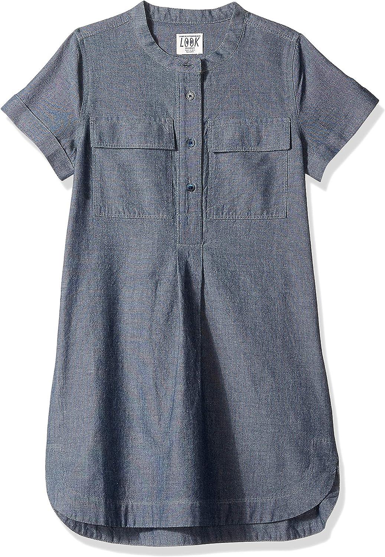 LOOK by Crewcuts Girls Chambray Shirt Dress Dress
