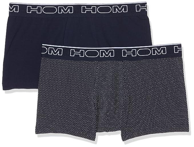 HOM Dome #2 Boxer Briefs Pack x2, Culotte para Hombre, Azul (imprimé Pois Blanc/Marine V001), S: Amazon.es: Ropa y accesorios