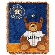The Northwest Company MLB Houston Astros Field Bear Woven Jacquard Baby Throw, 36  x 46