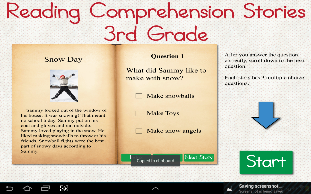Amazon.com: Reading Comprehension Stories 3rd Grade: Appstore for ...