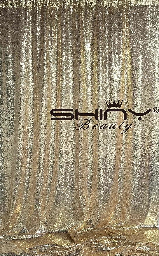 Shinybeauty Pailletten Hintergrund Fotografie Glitzer Pailletten Vorhänge Panele Für Hochzeit Photobox Hintergrund Hellgoldfarben 8ftx8ft Küche Haushalt