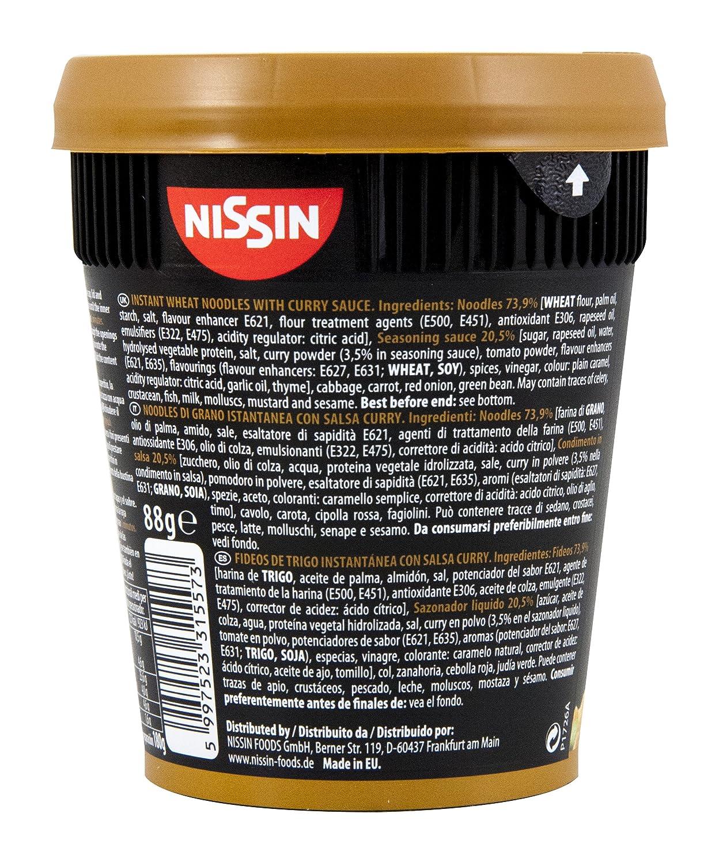 Nissin Noodles Con Salsa Japonesa Vaso 88 Gr: Amazon.es: Alimentación y bebidas