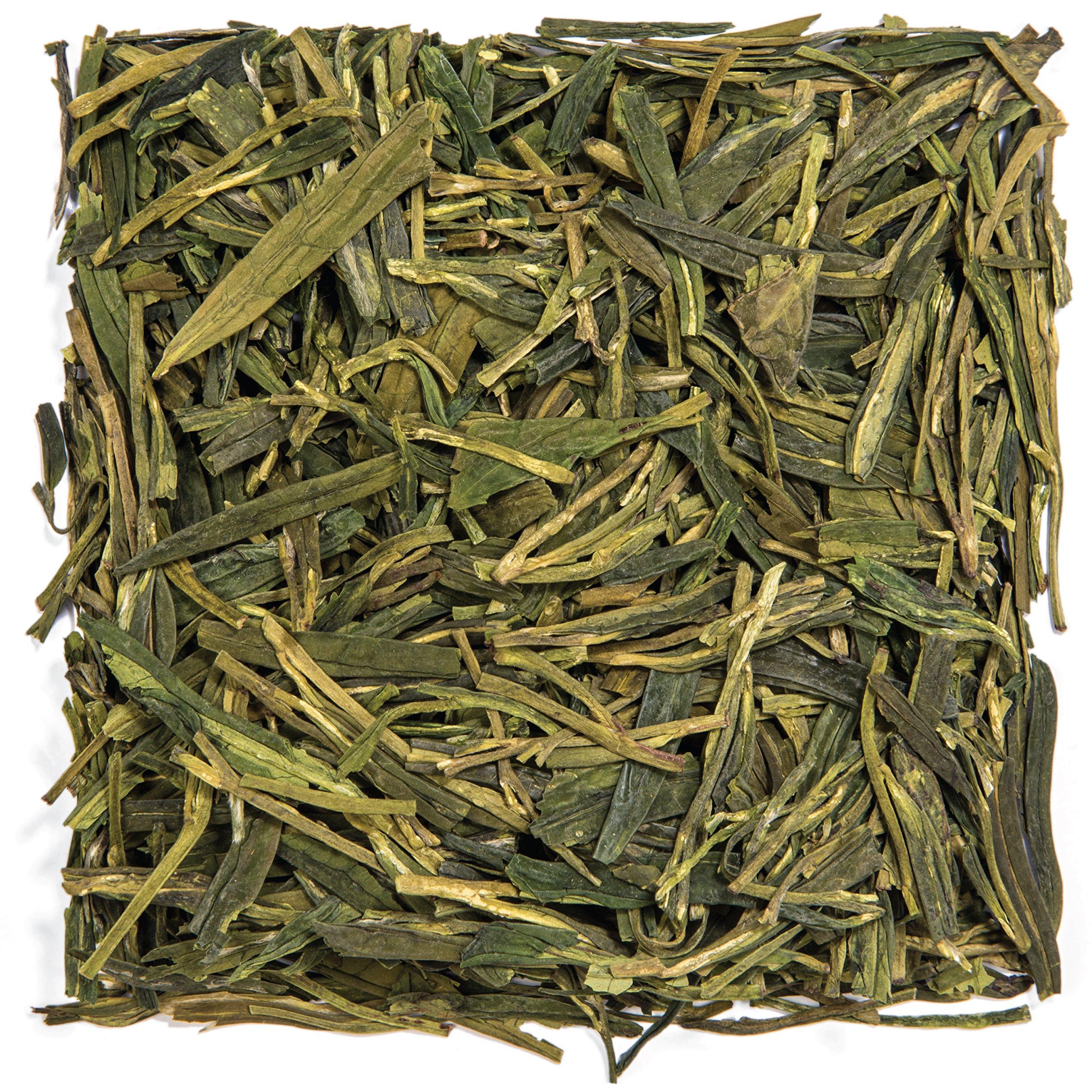 Tealyra - Premium Dragon Well - Long Jing - Green Tea - Best Chinese Loose Leaf Tea - First Grade - 200-gram