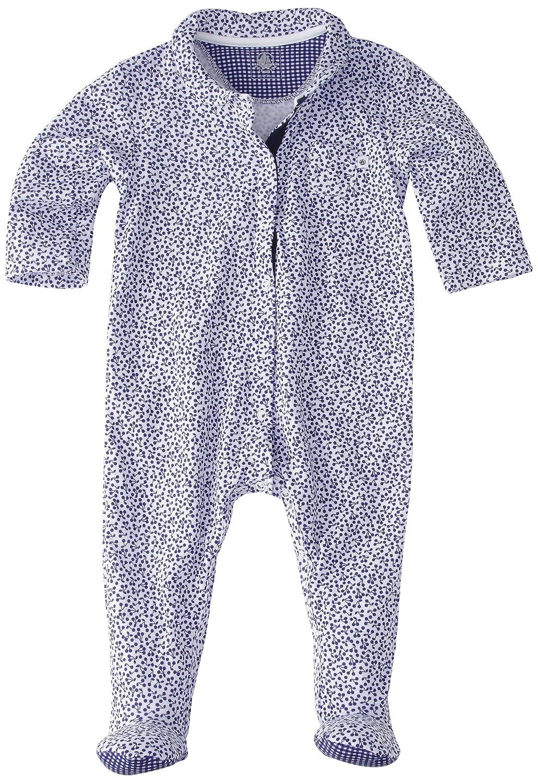 Petit Bateau SLEEPWEAR ベビーボーイズ Newborn ホワイト/ブルー B00AKGYRRG