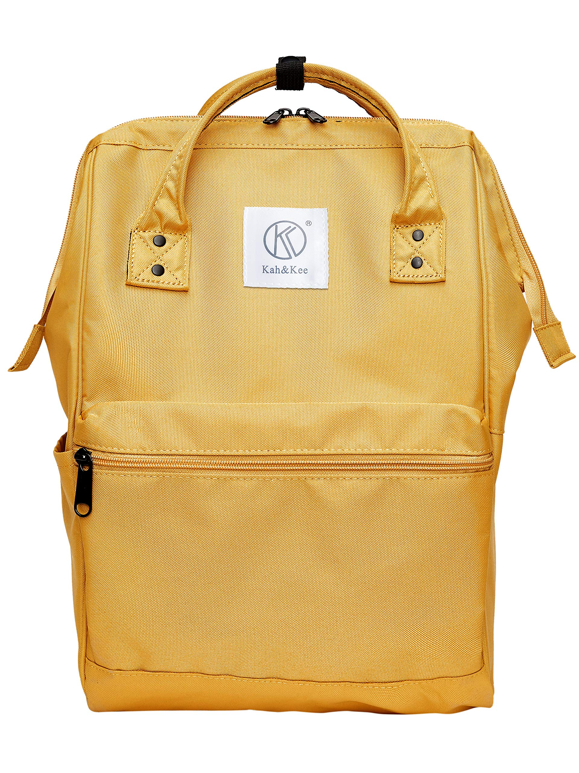 Kah&Kee Polyester Backpack with Laptop Compartment Waterproof Anti-theft Travel School for Women Man (Yellow, Large) by Kah&Kee