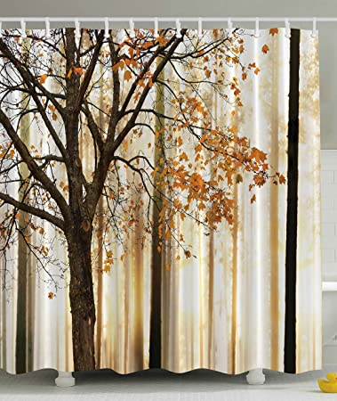 Amazon.com: Shower Curtain Fall Trees Print Mom Gift Ideas ...