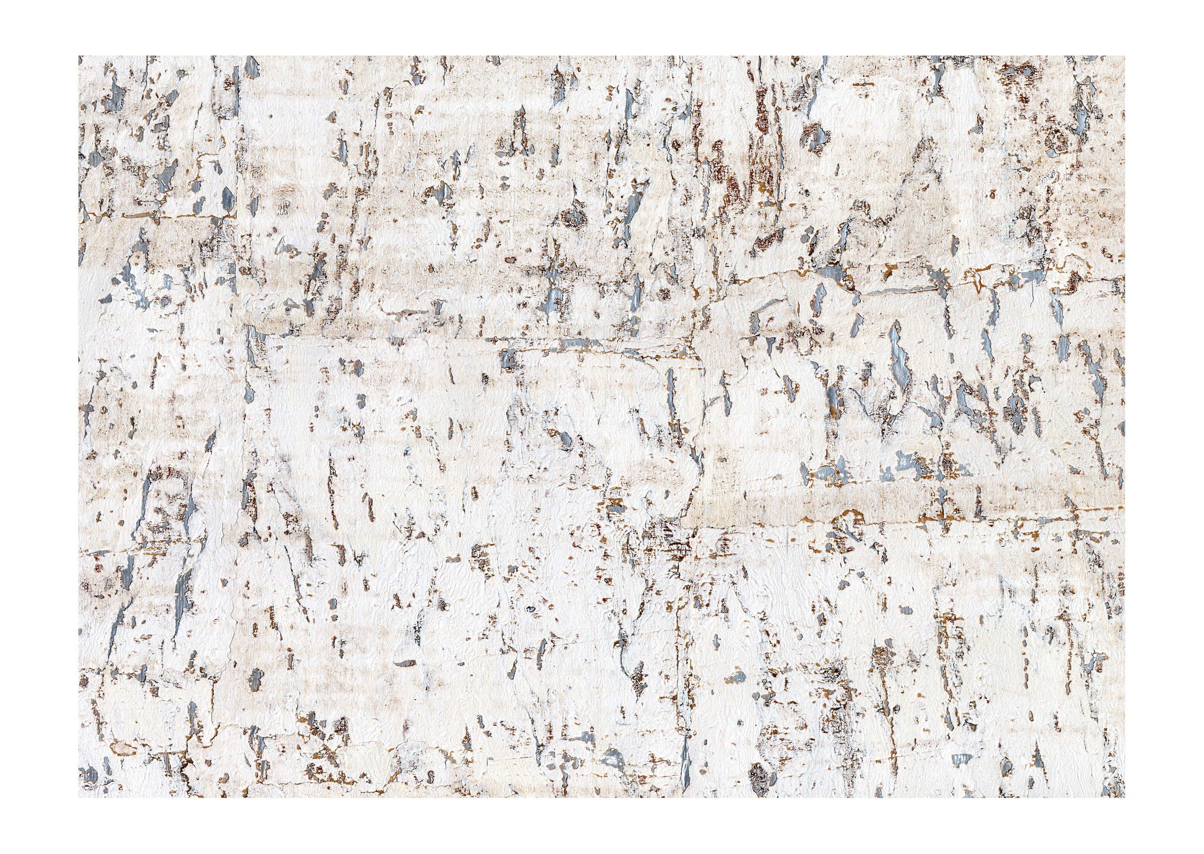 York Wallcoverings CX1200 Candice Olson Dimensional Surfaces Cork on Metallic Wallpaper, White/Silver Metallic
