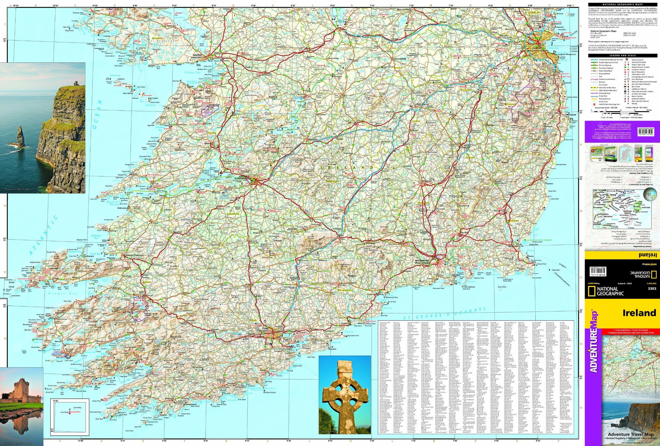 Ireland national geographic adventure map national geographic ireland national geographic adventure map national geographic maps adventure 9781566955355 amazon books sciox Images