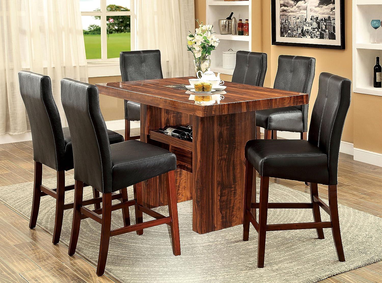 Amazoncom Furniture Of America Kona 7 Piece Contemporary Pub
