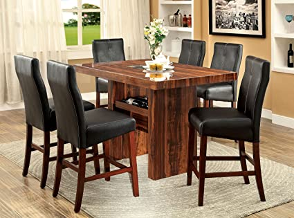 Amazon Com Furniture Of America Kona 7 Piece Contemporary Pub