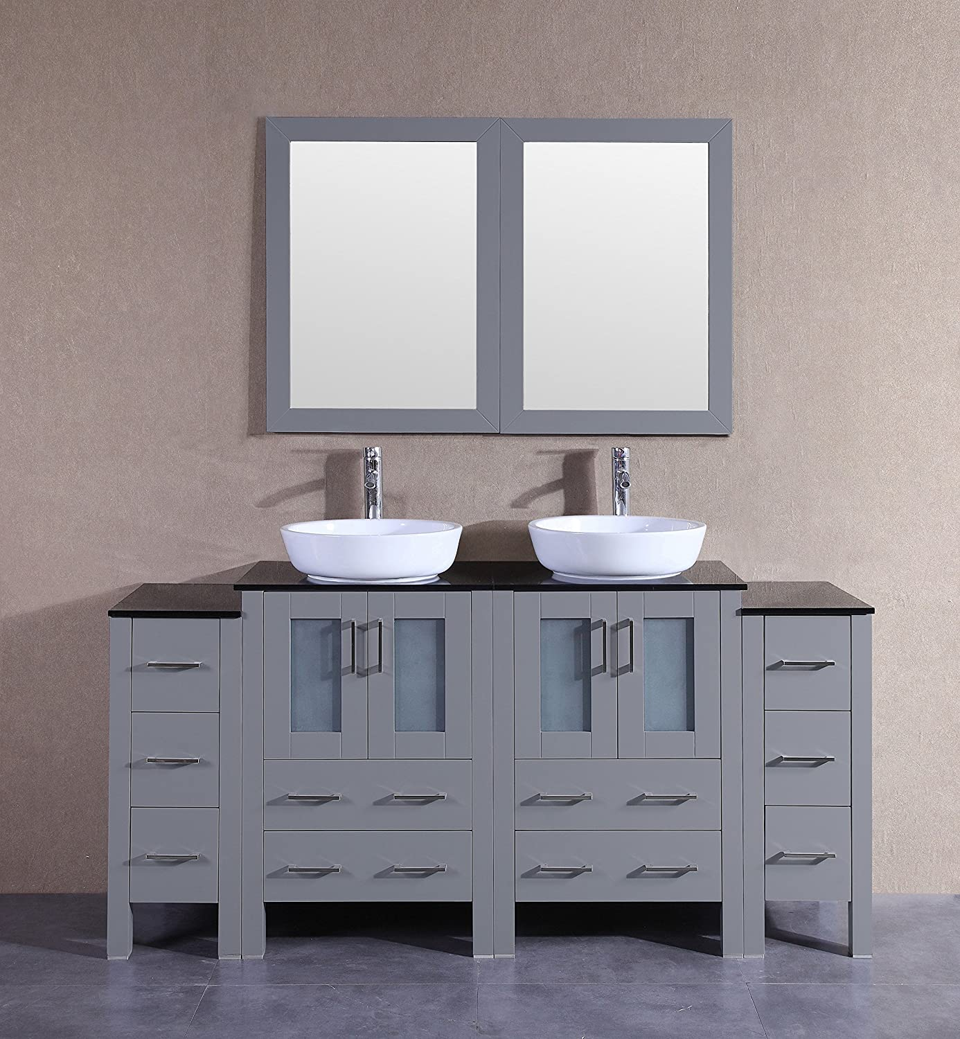 Bosconi Agr224bwlps 48 Double Vanity Set With Oval Vessel Sinks