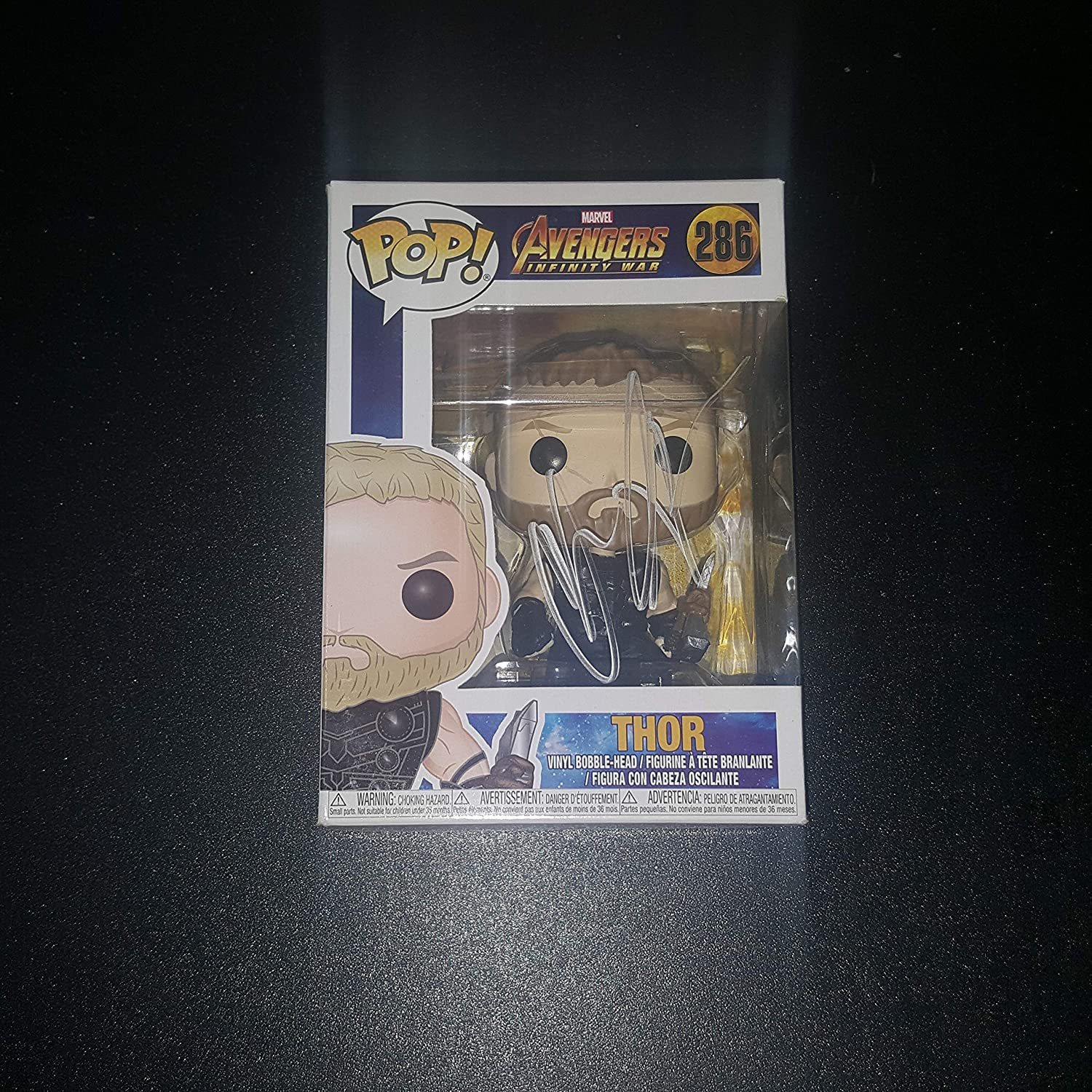Chris Hemsworth - Autographed Signed THOR FUNKO POP 286 Vinyl Figure - Avengers Infinity War - MARVEL