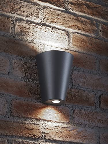 Auraglow indoor outdoor double wall up down light grey cool white led