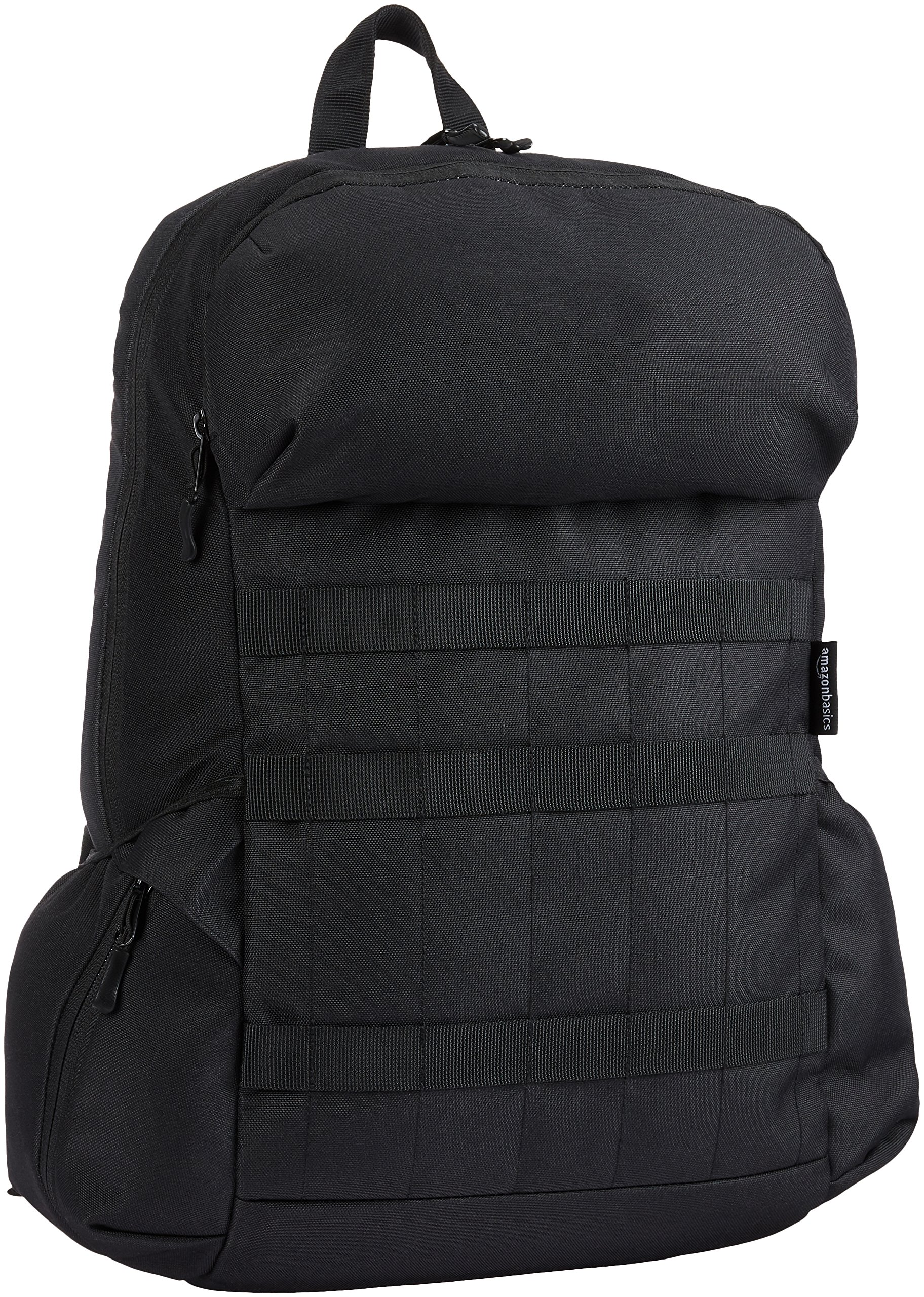 Amazon Basics Canvas Laptop Backpack Bag for up to 15 Inch Laptops - Black