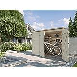 Weka Mehrzweckbox, Fahrrad- und Mülltonnenbox, natur, 219 x 100 x 151 cm