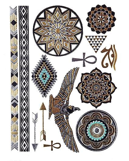 ORO Tatuaje, Flash De Tatuaje, Tatuajes De Piel, Egipcio Ornamento ...