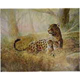 Art Prints Tropical Leopard Cat Family Animal Wall Picture, 16x20-Inch