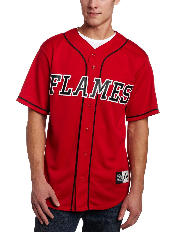 new styles 9d2a3 e38b8 Amazon.com : NHL Men's Calgary Flames Short Sleeve Button ...