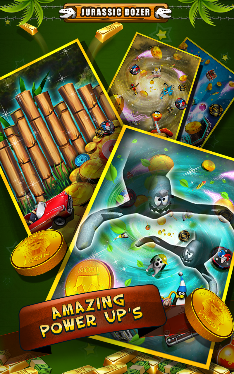 Coin Party: Jurassic Jungle Dozer - Import It All