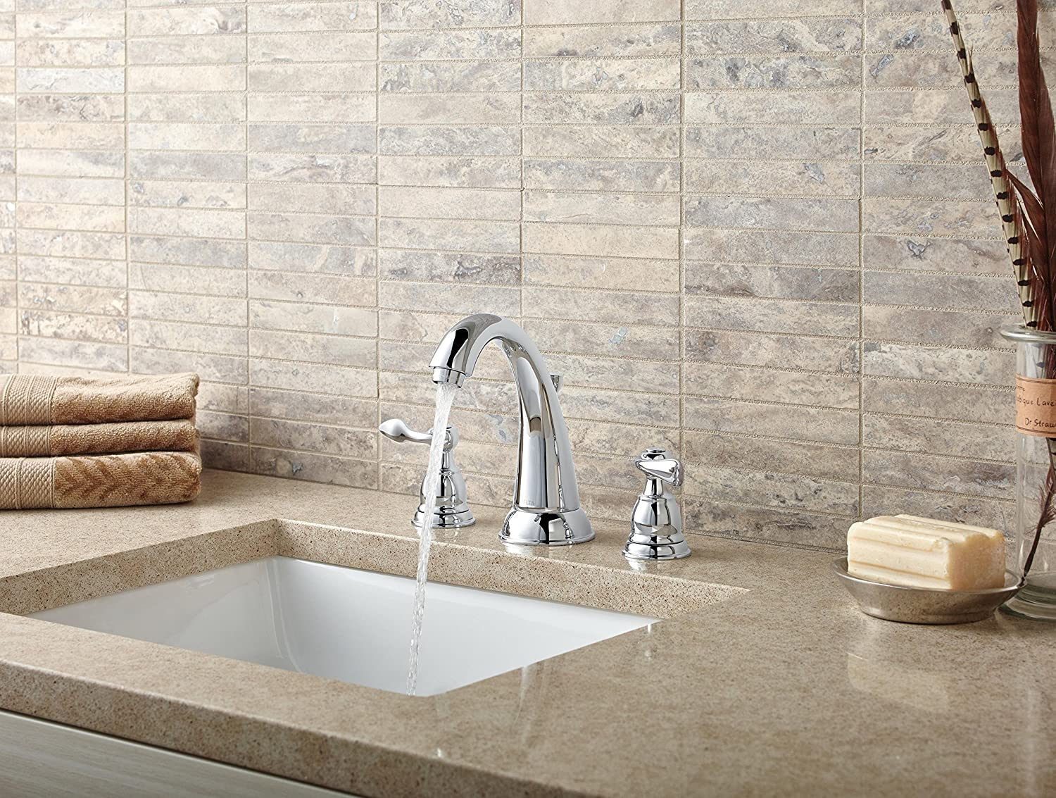 Delta Faucet B3596lf Windemere Polished Chrome Two Handle: Delta Windemere 2-Handle Widespread Bathroom Faucet With