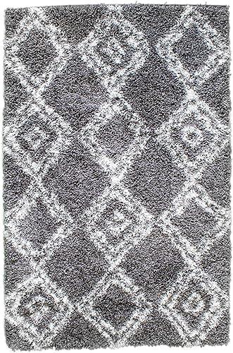 Super Area Rugs Bohemian Shag Rug Morrocan Diamond Printed Carpet