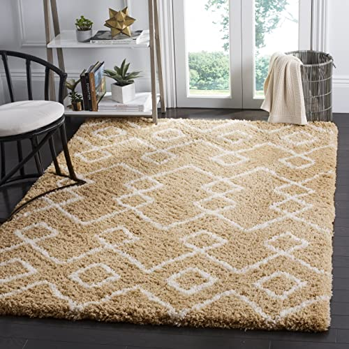 Safavieh Toronto Shag Collection SGT609B Handmade 1.25-inch Thick Area Rug