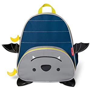 """Skip Hop Toddler Backpack, 12"""" Bat School Bag, Multi"""
