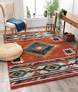 """Well Woven Lizette Red Traditional Medallion Area Rug 8x10 (7'10"""" x 9'10"""")"""