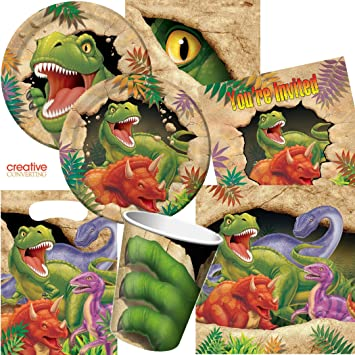 101 piece Dinosaur PaRTY SET for Birthday PaRTY with 8 Children Plates Cups & 101 piece Dinosaur PaRTY SET for Birthday PaRTY with 8 Children ...