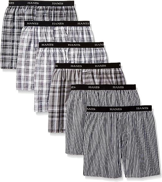 Hanes Ultimate Mens 4-Pack Platinum Yarn-Dye Boxer