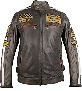 2XL MDM Herren Motorrad Lederweste