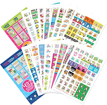 Great for Arts and Crafts Pack of 864 Colourful Numbers and Letters Stickers