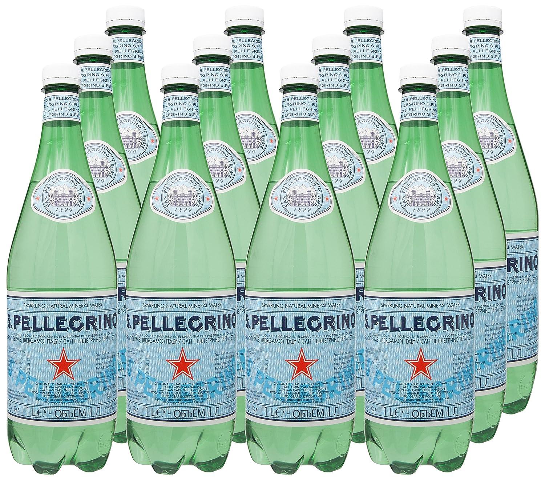 S. Pellegrino - Agua Mineral Natural Con gas, 1 L: Amazon.es: Alimentación y bebidas